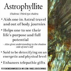Astrophyllite crystal meaning