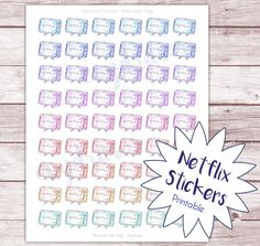 What I loved in April & Free Netflix Stickers — evydraws These Netflix sticker printables are drawn by hand with watercolors and then color-edited digitally. Perfect to mark a Netflix marathon session in your planner!  Hand drawn watercolor planner stickers, digital download. Free Netflix sticker sheet.