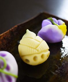 seasonal Japanese sweets; bamboo shoots and iris