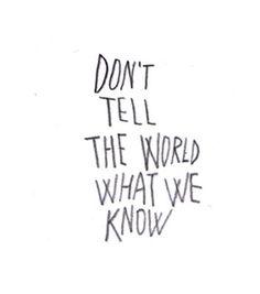 it'll be our little secret