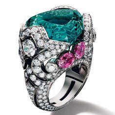 Giampiero Bodino, green tourmaline, pink tourmaline and diamonds, The art of passion - Vogue.it