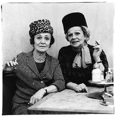 Me and my bestie, 40 years from now.   Diane Arbus, Two ladies at the automat, N.Y.C.