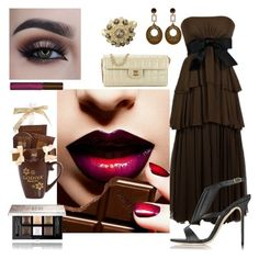 """Chocolate"" by denibrad ❤ liked on Polyvore featuring Sarmi, Olgana, Givenchy, Toolally, Chanel, Effy Jewelry and Fashion Fair"