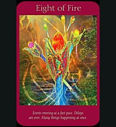 ~Eight of Fire card from Angel Tarot Cards by Doreen Virtue and Radleigh Valentine ~