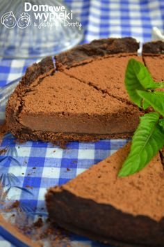 Chocolate tart with mint