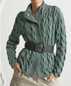 Cable Cardigan by DenisesKnits on Etsy,