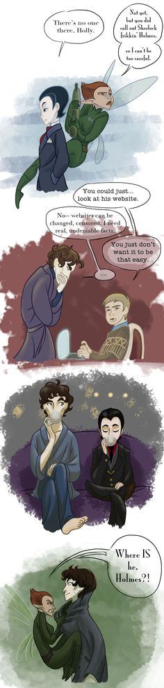 Fowlock scenes by iesnoth <----AAAAAAAA FOWLOCK IS A THING? WHY WAS I NOT INFORMED OF THIS? It makes sense though; Artemis is like a little Sherlock. I bet Arty has a mind palace.