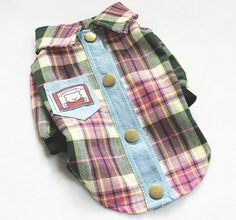New Style Hot 100%  Pet Puppy Dog Clothes Clothing Cute Male Boy Shirt -Red