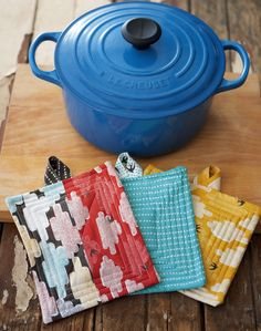 These fabric pot holders are so easy to make you'll want to sew an entire set.