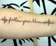 ECG words tattoo