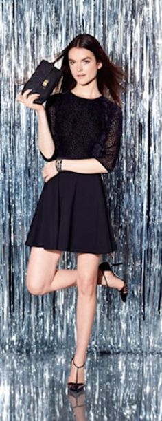 cute black fit and flare dress http://rstyle.me/n/ui4arr9te