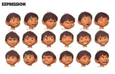 Drawing faces cartoon facial expressions concept art New ideas Character Model Sheet, Character Poses, Character Modeling, Character Concept, Concept Art, Main Character, Disney Expressions, Drawing Expressions, Facial Expressions