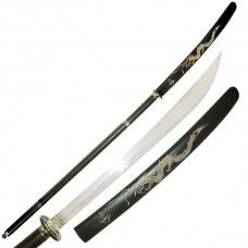 2-Piece Naginata You Save: $20.00   The blade of this beautifully crafted 2-piece Naginata is forged from tempered, 440 stainless steel. The handle features a solid metal cross-guard, brass pommel and wooden grip.  Brand: Master Cutlery Product Code: JL-069 Availability: In Stock