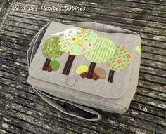Sac à main besace lin liberty Forêt 4 RESERVE  : Sacs bandoulière par vero-les-petites-bobines