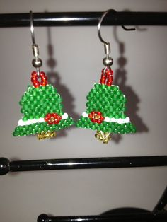 Beaded Christmas bells
