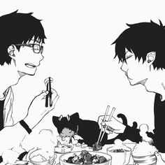Brothers, Blue exorcist.