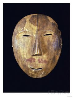 Wooden mask, Northern Alaska