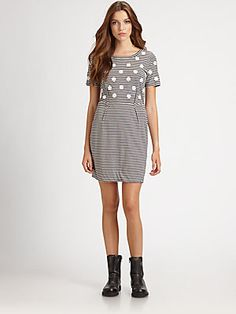 Marc by Marc Jacobs Willa Polka-Dot Jersey Dress