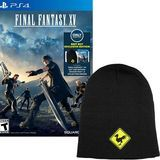 PlayStation - Best Buy Exclusive Final Fantasy XV with Collectible Beanie and Season Pass for PlayStation 4