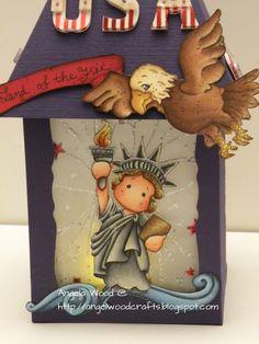 Angelwood's Crafting Corner: Freedom Lantern w/ Liberty Tilda