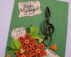 Unique 100% Handmade greeting card!!!  Perfect for any occasion!!!  Inside of the card has a list for your wishes!  Size of card:21x15cm!  I will send the card with registered post to ensure that you will receive!  Thank you for visiting my store!  Gracias por visitar mi tienda