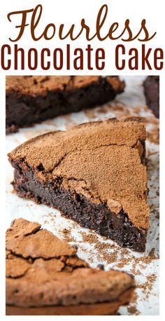 Flourless Chocolate Fudge Cake - Baker by Nature