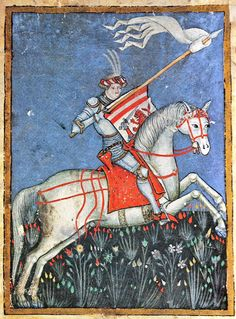 Bosnian Duke Hrvoje Vukčić Hrvatinić. Image taken from his Glagolithic Missal from the beginning of the 15th c.