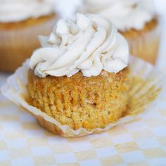 Carrot and Pineapple Cupcakes w/ Brown Butter Cream Cheese Frosting