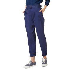 Monoprix - Pantalon taille haute ceinturé - MONOPRIX FEMME