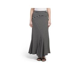 Striped Gusset Maxi Skirt found on Polyvore featuring polyvore, women's fashion, clothing, skirts, long floor length skirts, ankle length skirts, long stretchy skirts, striped maxi skirt and striped skirts