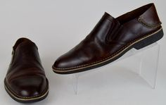 Sperry Top-Sider Harbor Men's Brown Smooth Leather Slip On Shoes 10.5 M Used #SperryTopSider #LoafersSlipOns