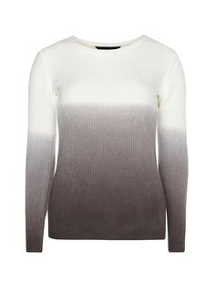 Charcoal and Ivory Dip Dye Jumper