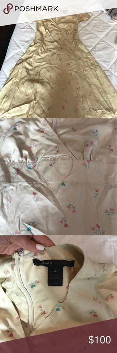 Size 2 Marc Jacobs dress Delicate printed silk dress size 2 little stain on front Marc Jacobs Dresses