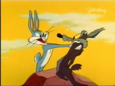 Wile E. Coyote and Bugs Bunny - Bing Images Looney Tunes Characters, Classic Cartoon Characters, Looney Tunes Cartoons, Favorite Cartoon Character, Classic Cartoons, Vintage Cartoons, Good Cartoons, Old School Cartoons, Funny Cartoons