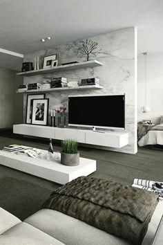 ideen raumtrenner vorhang regal offen paravent marmor