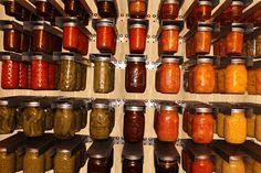 Mason Jar Storage by Otter Lab - Set of 2 Racks for Regular Mouth Mason Jars Canning Jar Storage, Home Canning, Canning Jars, Canning Recipes, Canning 101, Fun Recipes, Mason Jar Hanger, Hanging Mason Jars, Kitchen Storage