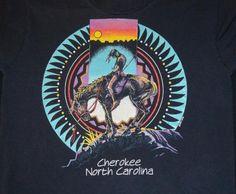 vintage CHEROKEE north carolina native indian t-shirt Small Native American T Shirts, Native American Indians, Cherokee North Carolina, North Dakota, Indian Heritage, Native Indian, Vintage Tees, Nativity, Trail