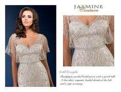 / Wedding Dresses / Jasmine Couture Collection / Available Colours : Gold, Ivory, White (close up) Wedding Bridesmaid Dresses, Bridal Wedding Dresses, Designer Wedding Dresses, Wedding Attire, Jasmine Bridal, Bride Gowns, A Line Gown, Dress Collection, Couture Collection