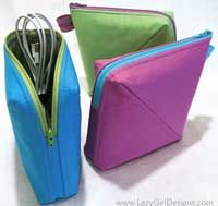 Bendy Bag Pattern by Lazy Girl Designs - I love the functionality of this sewing pattern!