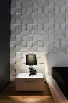 The 10 deco trends 201 - Deco Garden-Design Textured Wall Panels, Decorative Wall Panels, 3d Wall Panels, Panneau Mural 3d, Wall Texture Design, Interior Walls, Interior Design, Bedroom Wall Designs, Home