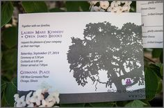 Fun and Modern Tree of Love Wedding Invitations  SAMPLE by r3mg, $4.00