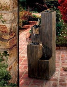 Timber Indoor/Outdoor Floor Fountain – Outdoor Fountain Pros