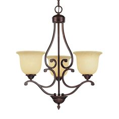 Shop Millennium Lighting Courtney Lakes 3-Light Rubbed Bronze Hardwired Standard Chandelier at Lowes.com $120