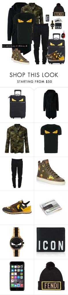 """MenFall"" by dimedeal ❤ liked on Polyvore featuring Fendi, Kazuyuki Kumagai, AMIRI, Moncler, Bally, Valentino, Dsquared2, Dolce&Gabbana, men's fashion and menswear"