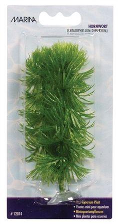 Plantas Plasticas Mini Ventosa Para Bettas Hornwort 10cm MARINA - #FaunAnimal