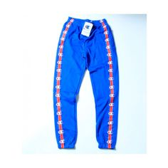 Vetements X Champion Sweatpants (Blue) (£69) ❤ liked on Polyvore featuring activewear, activewear pants, blue sweat pants, champion activewear, blue sweatpants, champion sweatpants and champion sportswear