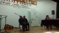 SMGE TLAXCALA.- David Espinosa Flores en el programa de radio y en el recital, declamando sus poesías. En sus primeros 90 años de edad!!!! (También cantó)