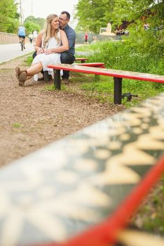 Colorful Beltline Engagement Session // Angie & Brendan - You Are Raven Photography