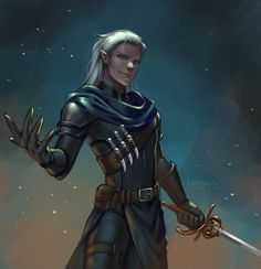 Commission: Viz by leejun35 on DeviantArt Elf Characters, Dungeons And Dragons Characters, Fantasy Characters, Fantasy Male, Fantasy Warrior, Fantasy Rpg, Dark Fantasy, Fantasy Character Design, Character Inspiration