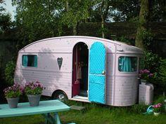 vintage pink trailer